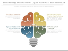 Brainstorming Techniques Ppt Layout Powerpoint Slide Information