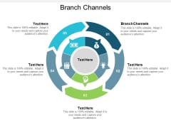 Branch Channels Ppt PowerPoint Presentation File Example Cpb
