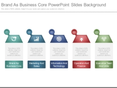Brand As Business Core Powerpoint Slides Background