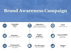 Brand Awareness Campaign Ppt PowerPoint Presentation Pictures Summary