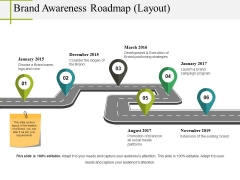 Brand Awareness Roadmap Layout Ppt PowerPoint Presentation File Designs