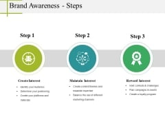 Brand Awareness Steps Ppt PowerPoint Presentation Styles Professional