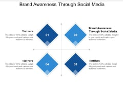 Brand Awareness Through Social Media Ppt PowerPoint Presentation Professional Graphics Example