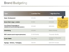 Brand Budgeting Ppt PowerPoint Presentation Slides Example