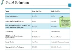 Brand Budgeting Ppt PowerPoint Presentation Slides Icons