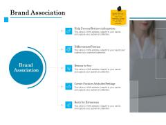 Brand Building Brand Association Ppt Slides Information PDF