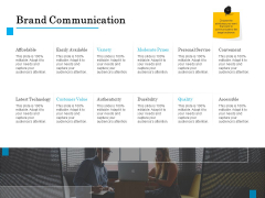 Brand Building Brand Communication Ppt Icon Show PDF