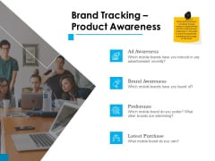 Brand Building Brand Tracking Product Awareness Ppt Styles Icon PDF