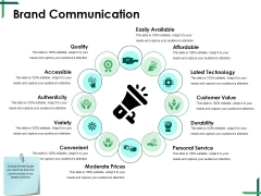 Brand Communication Ppt PowerPoint Presentation Icon Ideas