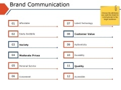 Brand Communication Ppt PowerPoint Presentation Slides Picture