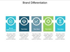 Brand Differentiation Ppt PowerPoint Presentation Styles Ideas Cpb