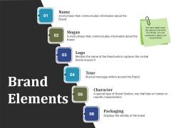 Brand Elements Ppt PowerPoint Presentation Gallery Deck