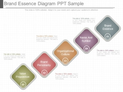 Brand Essence Diagram Ppt Sample
