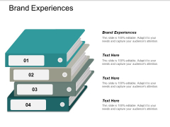 Brand Experiences Ppt PowerPoint Presentation Model Graphics Pictures