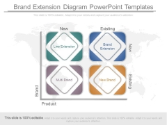 Brand Extension Diagram Powerpoint Templates