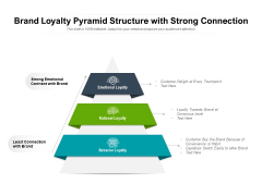 Brand Loyalty Pyramid Structure With Strong Connection Ppt PowerPoint Presentation Gallery Ideas