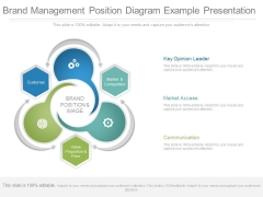 Brand Management Position Diagram Example Presentation