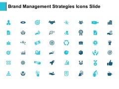 Brand Management Strategies Icons Slide Gear Ppt PowerPoint Presentation Outline Microsoft