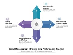 Brand Management Strategy With Performance Analysis Ppt PowerPoint Presentation Gallery Samples PDF