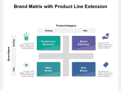 Brand Matrix With Product Line Extension Ppt PowerPoint Presentation File Background Designs PDF
