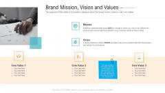 Brand Mission Vision And Values Ppt PowerPoint Presentation Portfolio Infographics PDF