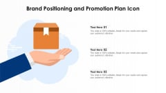 Brand Positioning And Promotion Plan Icon Ppt Ideas Show PDF