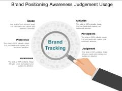 Brand Positioning Awareness Judgement Usage Ppt PowerPoint Presentation Inspiration Show