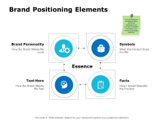Brand Positioning Elements Ppt PowerPoint Presentation Infographics Influencers