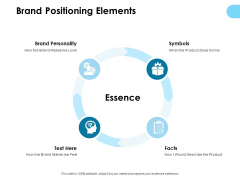 Brand Positioning Elements Ppt PowerPoint Presentation Professional Display