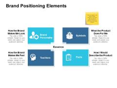 Brand Positioning Elements Ppt PowerPoint Presentation Summary Background