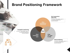 Brand Positioning Framework Ppt PowerPoint Presentation Picture