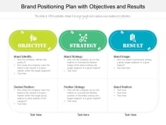Brand Positioning Plan With Objectives And Results Ppt PowerPoint Presentation File Icons PDF