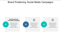 Brand Positioning Social Media Campaigns Ppt PowerPoint Presentation Styles Influencers Cpb