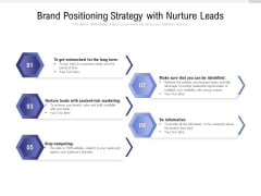 Brand Positioning Strategy With Nurture Leads Ppt PowerPoint Presentation Gallery Inspiration