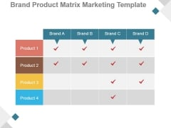 Brand Product Matrix Marketing Template Ppt PowerPoint Presentation Show
