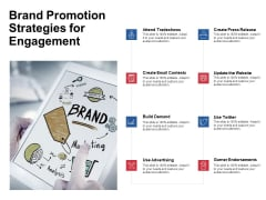 Brand Promotion Strategies For Engagement Ppt PowerPoint Presentation Outline Slides