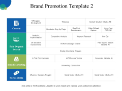 Brand Promotion Template 2 Ppt PowerPoint Presentation Pictures Skills