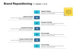 Brand Repositioning Segment Oriented Ppt PowerPoint Presentation Slides Inspiration