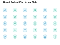 Brand Rollout Plan Icons Slide Arrow Ppt PowerPoint Presentation Professional Example Topics