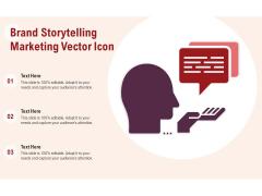 Brand Storytelling Marketing Vector Icon Ppt PowerPoint Presentation Slides Example