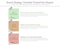 Brand Strategy Checklist Powerpoint Shapes