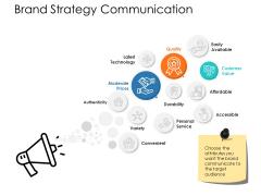 Brand Strategy Communication Ppt Powerpoint Presentation Styles Templates
