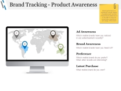 Brand Tracking Product Awareness Ppt PowerPoint Presentation Gallery Topics