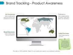 Brand Tracking Product Awareness Ppt PowerPoint Presentation Icon Visual Aids