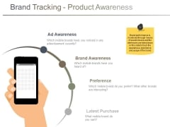 Brand Tracking Product Awareness Ppt PowerPoint Presentation Infographics Graphics