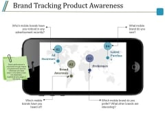 Brand Tracking Product Awareness Ppt PowerPoint Presentation Show Deck