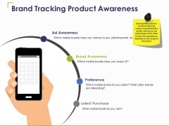 Brand Tracking Product Awareness Ppt PowerPoint Presentation Summary Smartart