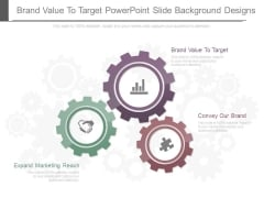 Brand Value To Target Powerpoint Slide Background Designs