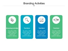 Branding Activities Ppt PowerPoint Presentation File Maker Cpb