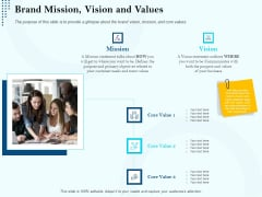 Branding Approach Marketing Strategies Brand Mission Vision And Values Ppt Inspiration Topics PDF